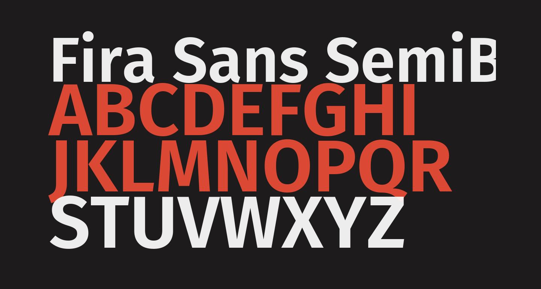 Fira Sans SemiBold