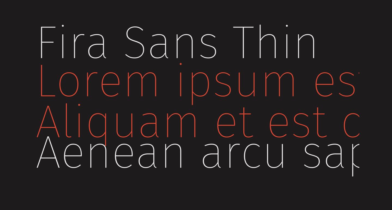 Fira Sans Thin