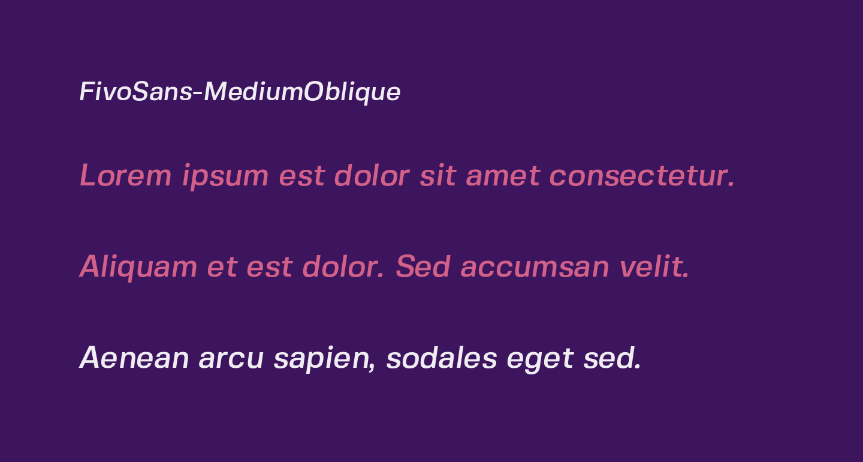FivoSans-MediumOblique