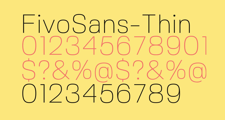 FivoSans-Thin