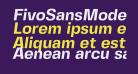FivoSansModern-BoldOblique