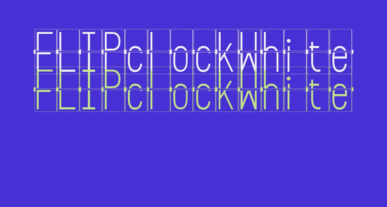 FLIPclockWhite