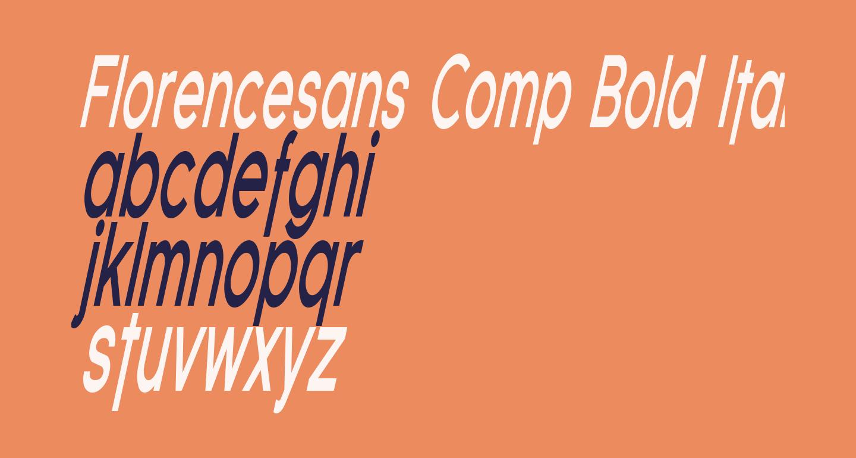 Florencesans Comp Bold Italic