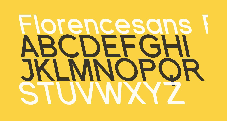 Florencesans Rev Bold Italic