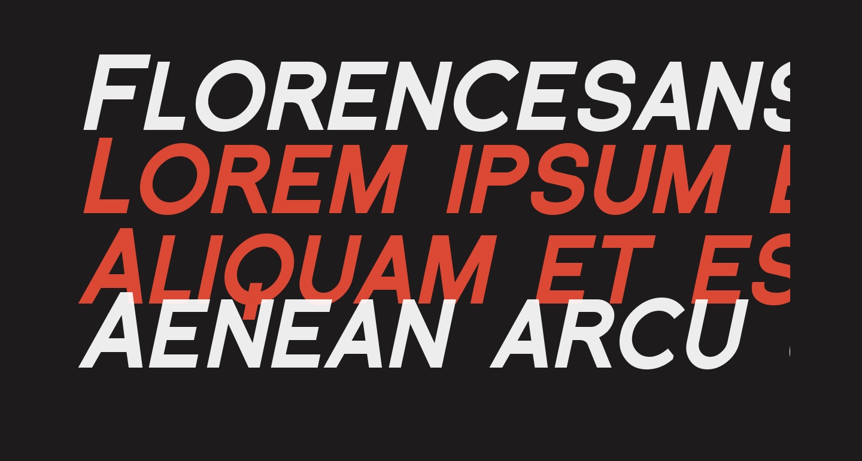 Florencesans SC Black Italic