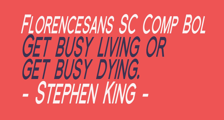 Florencesans SC Comp Bold Italic