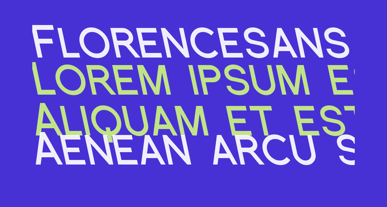Florencesans SC Rev Bold Italic