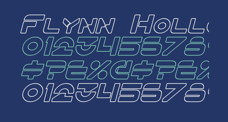 Flynn Hollow Italic