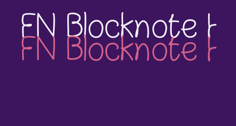 FN Blocknote Hand