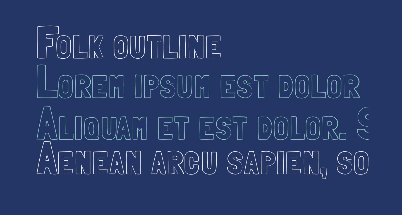 Folk outline