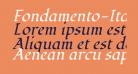 Fondamento-Italic
