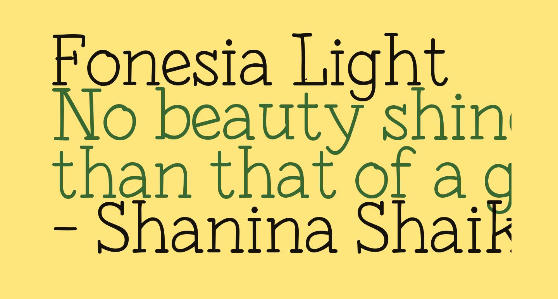 Fonesia Light