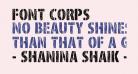 Font Corps