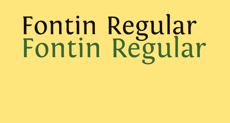 Fontin Regular