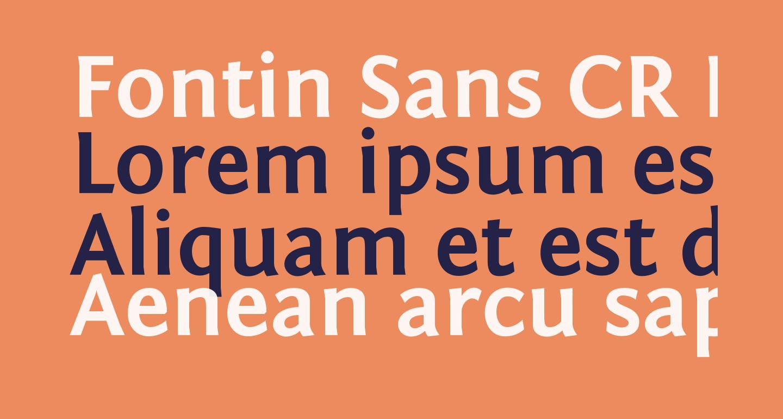 Fontin Sans CR Bold