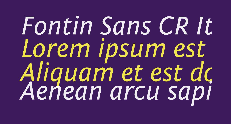 Fontin Sans CR Italic