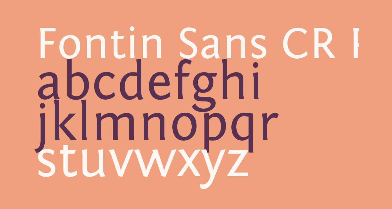 Fontin Sans CR Regular