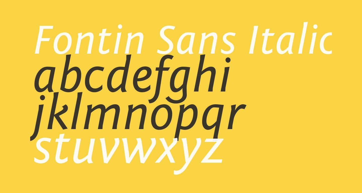 Fontin Sans Italic