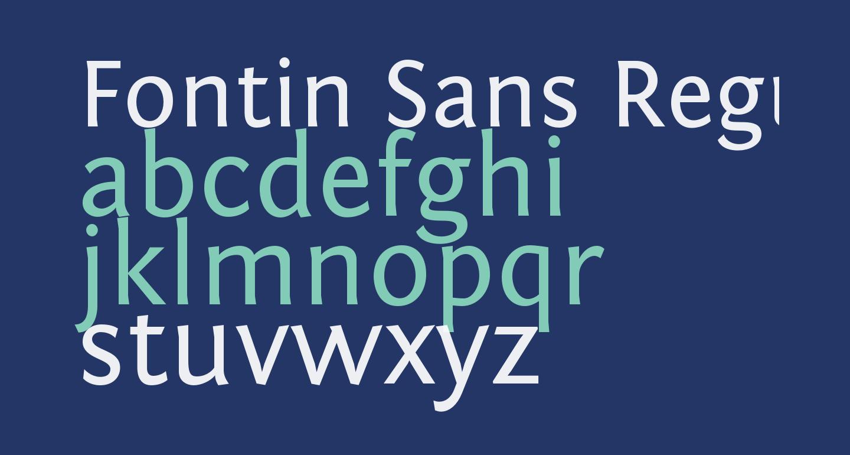 Fontin Sans Regular