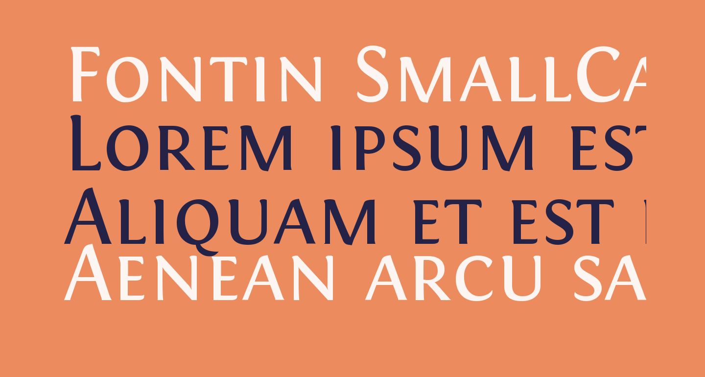 Fontin SmallCaps