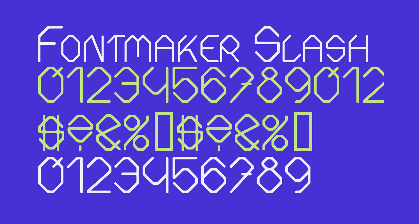 Fontmaker Slash