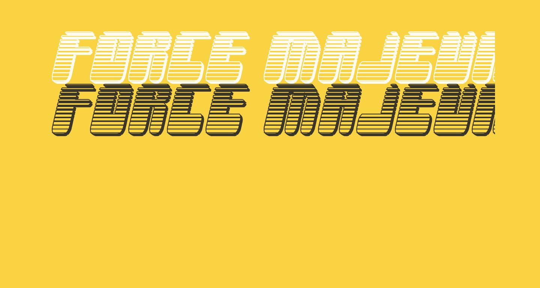 Force Majeure Chrome Italic