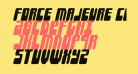 Force Majeure Condensed Italic