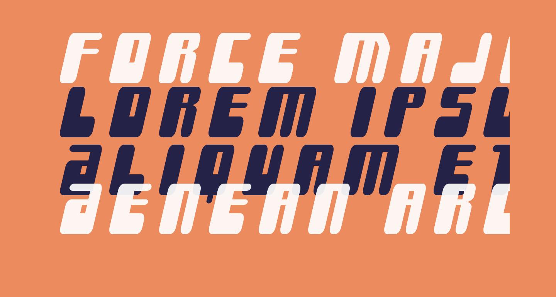 Force Majeure Title Italic