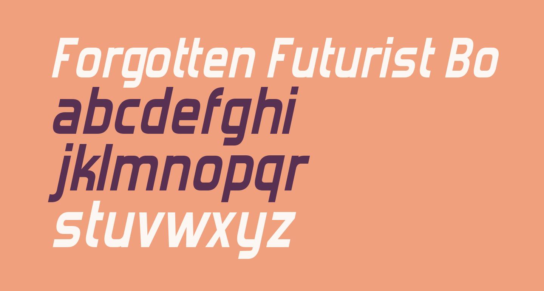 Forgotten Futurist Bold Italic