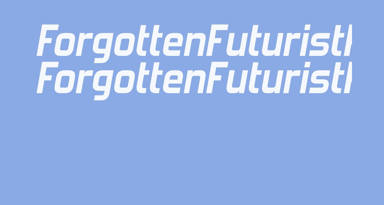 ForgottenFuturistRg-BoldItalic