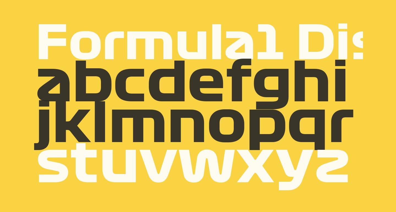 Formula1 Display Bold Bold