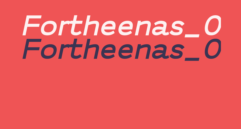 Fortheenas_01 Bold Italic
