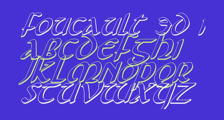Foucault 3D Italic