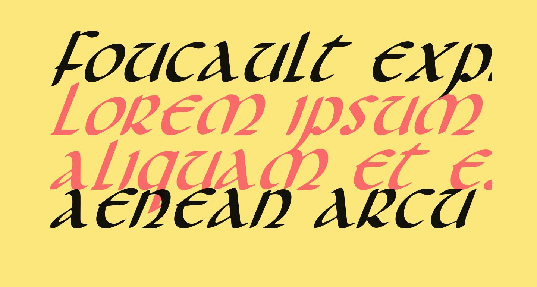 Foucault Expanded Italic