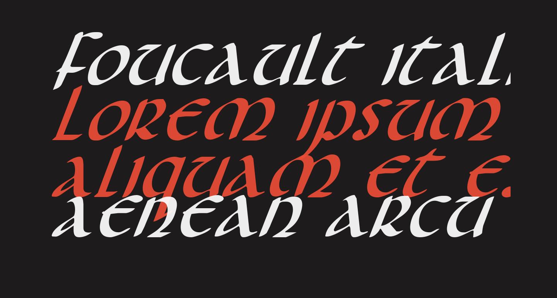 Foucault Italic