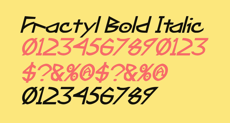 Fractyl Bold Italic