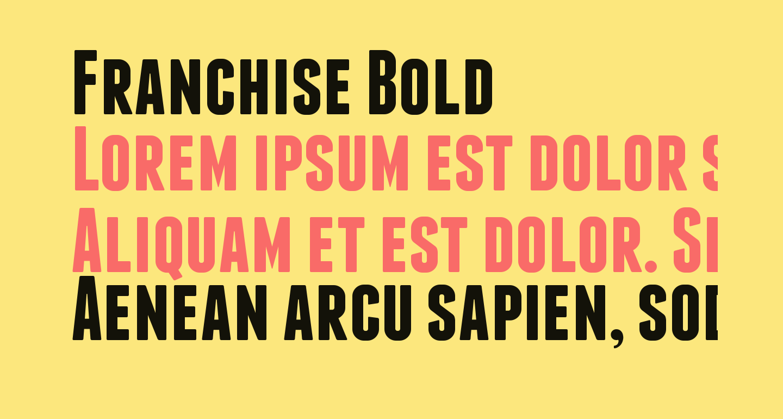 Franchise Bold