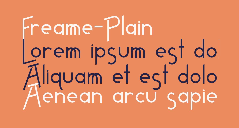 Freame-Plain