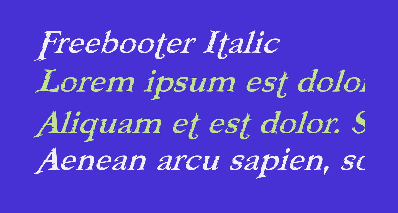 Freebooter Italic