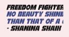 Freedom Fighter Condensed Italic