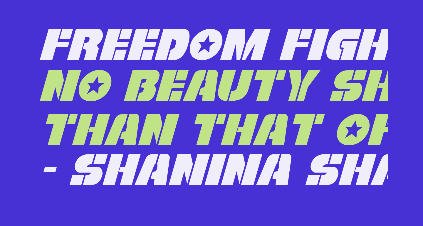 Freedom Fighter Italic