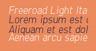 Freeroad Light Italic