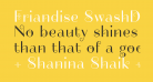 Friandise SwashDemo