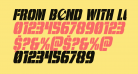 From BOND With Love Condensed Italic