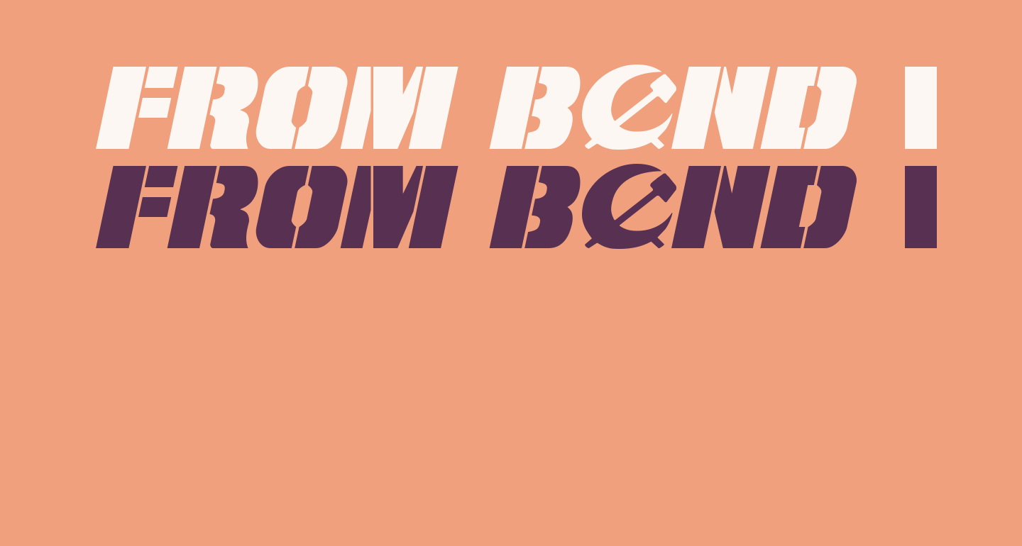 From BOND With Love Expanded Italic