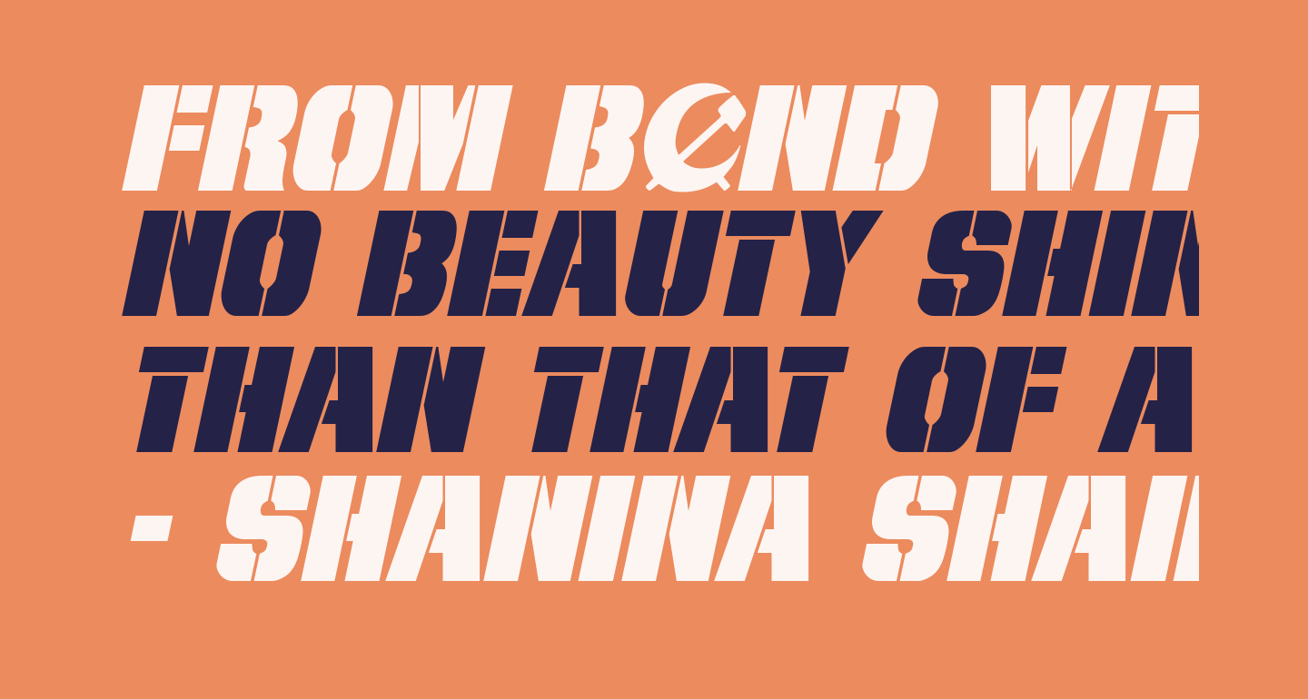 From BOND With Love Italic