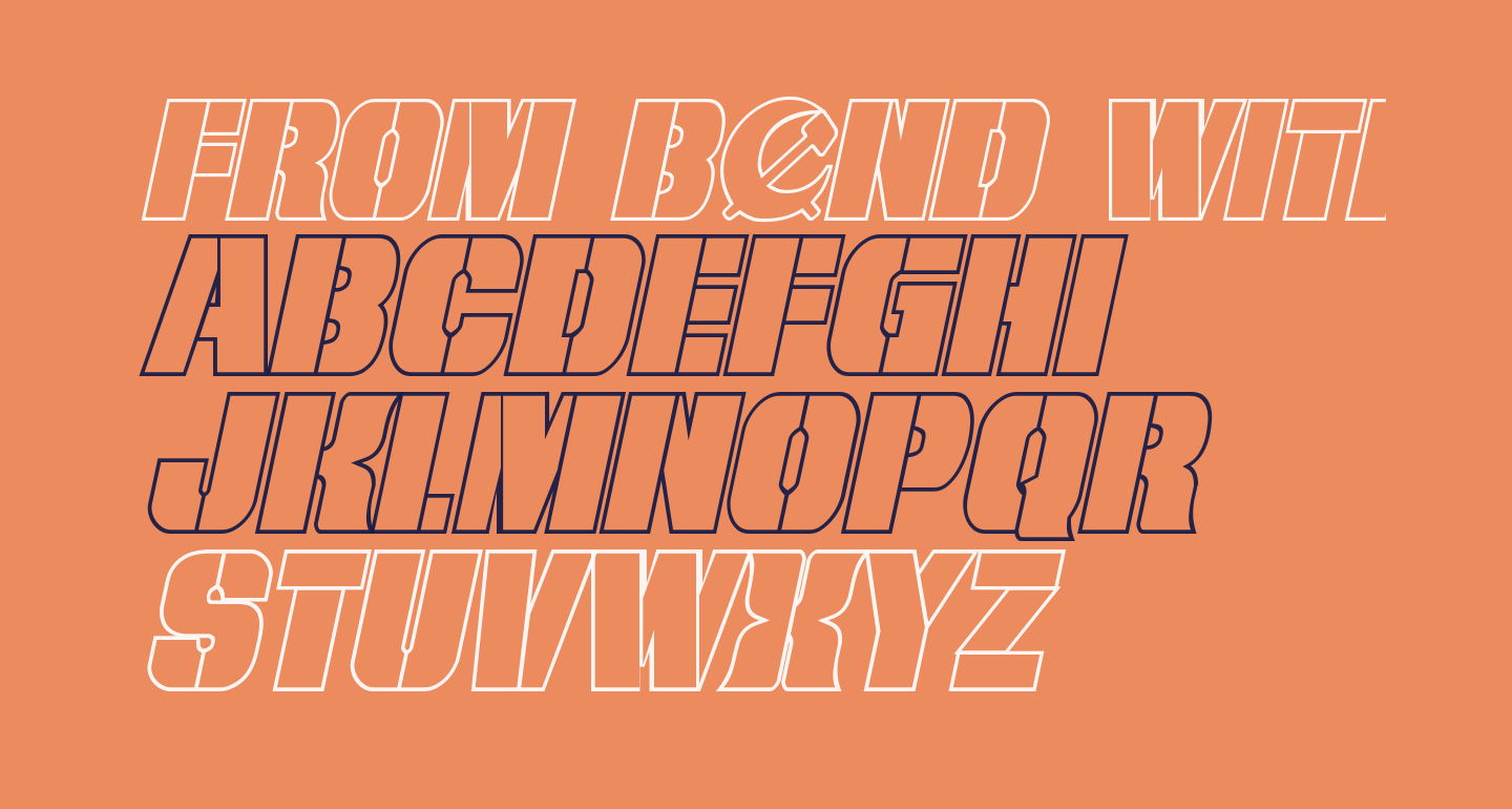 From BOND With Love Outline Italic