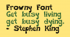 Frowny Font