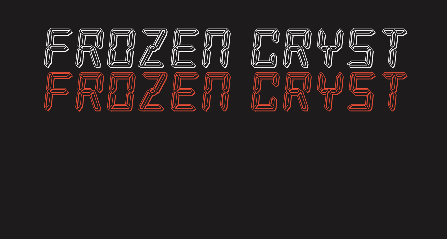 Frozen Crystal Engraved