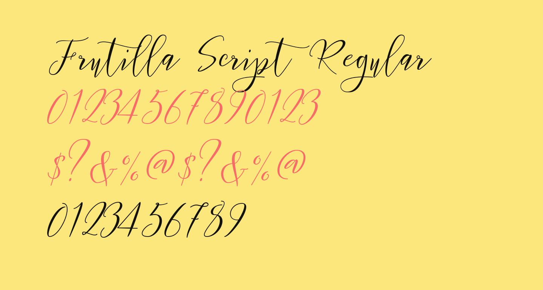 Frutilla Script Regular